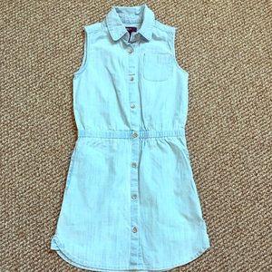 Gap little girls denim sleeve less shirt dress NWT